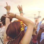 girls at a music festival